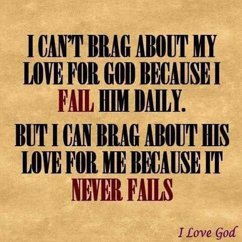 Thank God for His Love...