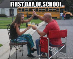 parents celebrate back to school